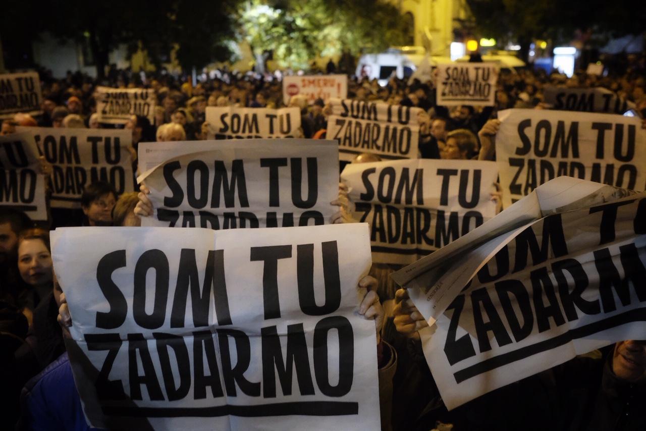 Choďte už do čerta! Znechutení ľudia pochodovali Za slušné Slovensko